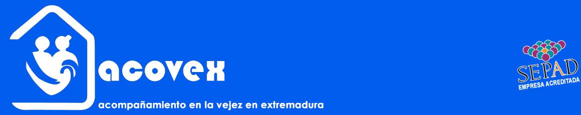 Cabecera con logo acovex logo de acreditada por el SEPAD - Acompañamiento en la vejez en Extremadura. Ayuda a Domicilio, Promoción a la Autonomía, residencias,